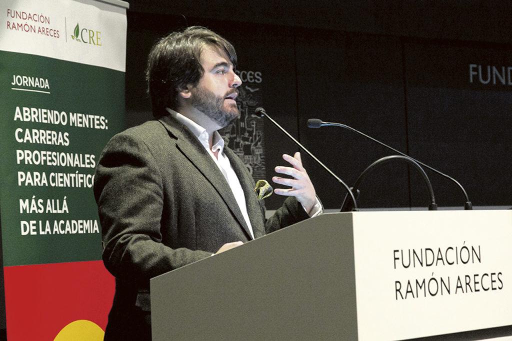 Fernando Josa durante su participación en una jornada en la Fundación Ramón Areces.