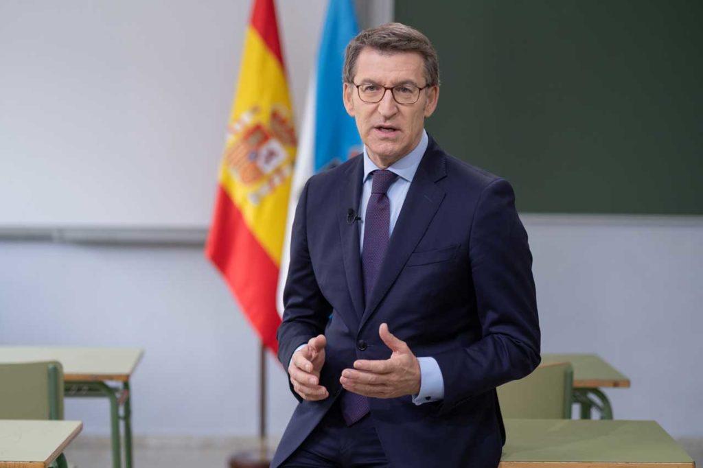 Feijóo ofreció su mensaje de Fin de Año desde el instituto de Ourense donde estudió.
