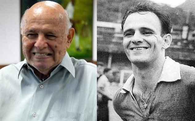 José Macía, Pepe, en la actualidad y hacia 1960, cuando triunfaba en el Santos.