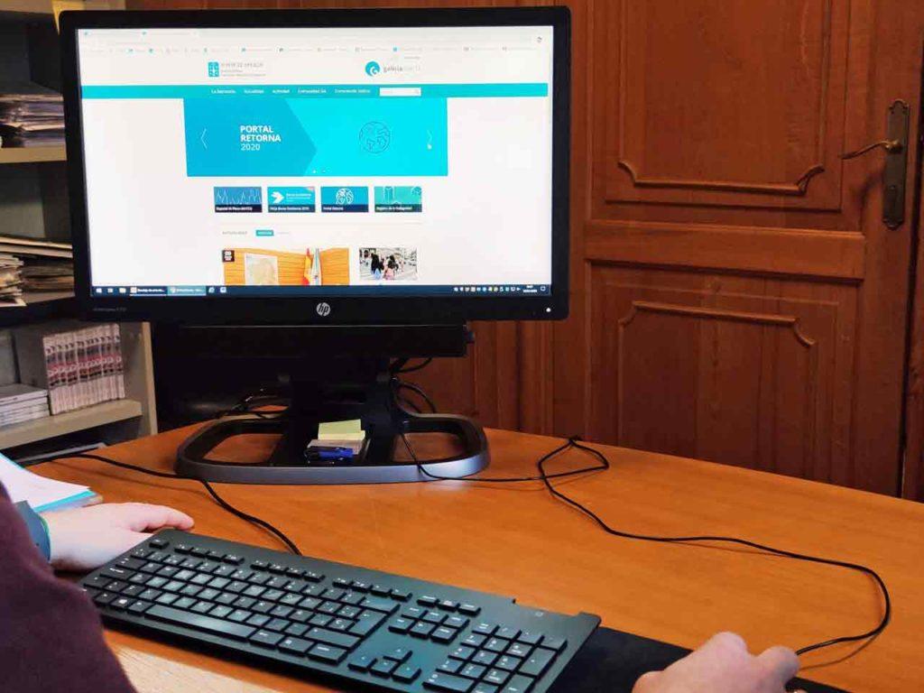 Vista del nuevo portal web Retorna de la Secretaría Xeral da Emigración.