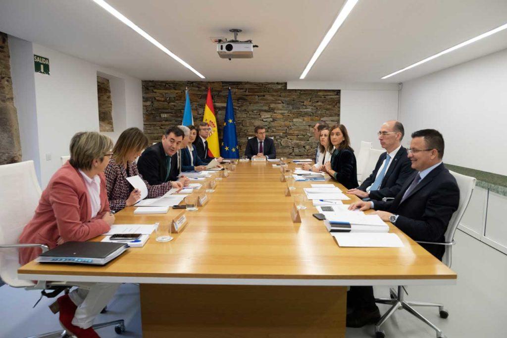 La reunión semanal de la Xunta, que aprobó las BEME, se celebró en esta ocasión en el municipio coruñés de Boqueixón.