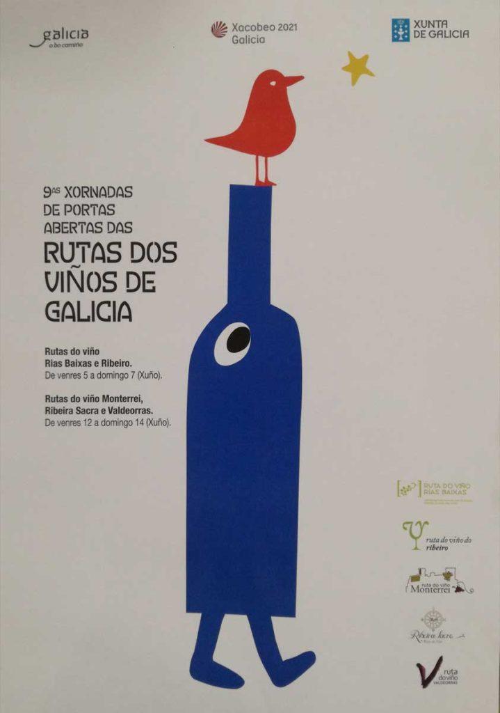 Imagen de las novenas Jornadas de Puertas Abiertas de las Rutas dos Viños, obra de Jesús Barbeito Rivas (Madrid).