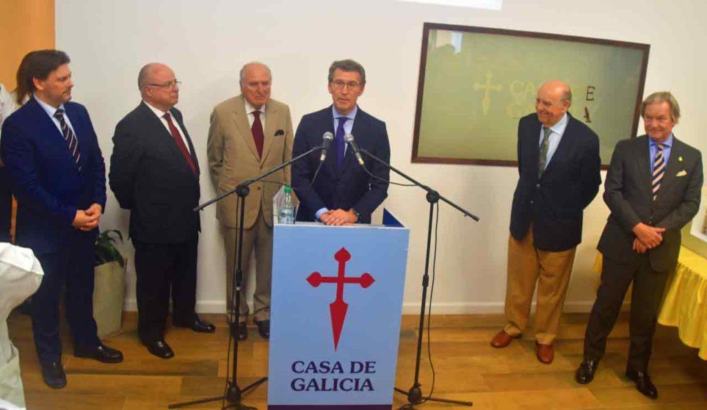 Intervención del presidente de la Xunta en el acto.