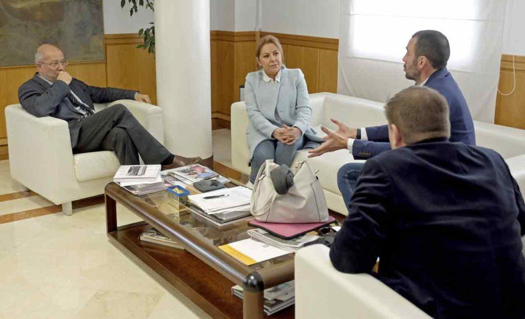 Francisco Igea, Rosa Valdeón, Javier Casado y Carlos Aguilar.