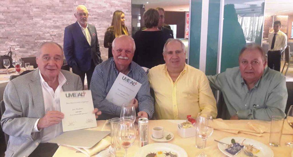 Jaro Paz, Alejandro Ortiz, Luis Álvarez y Luis Piñeiro.