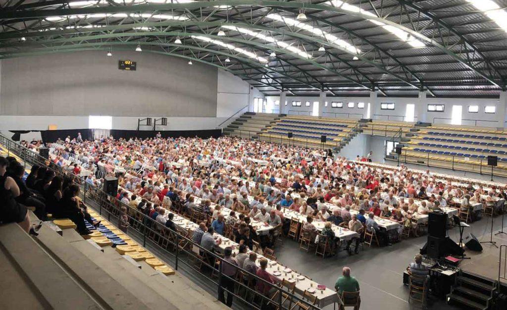 La IX Xuntanza da Emigración, organizada por la Coordinadora Federal de las Asociaciones Gallegas en Alemania en Vilagarcía de Arousa en julio de 2019, congregó muchísimo público.