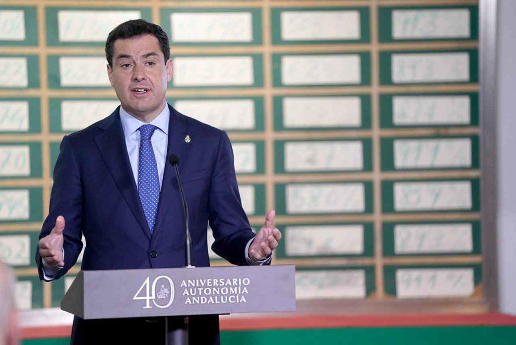 Juan Manuel Moreno informa de la declaración institucional tras el Consejo de Gobierno celebrado en el Museo de la Autonomía de Andalucía.