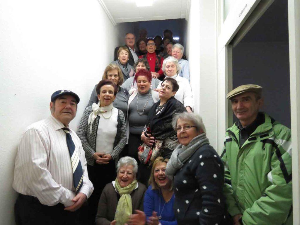Participantes en un seminario para emigrantes mayores en Remscheid.
