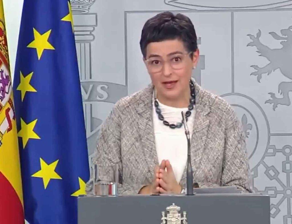 Arancha González Laya en un momento de la comparecencia.