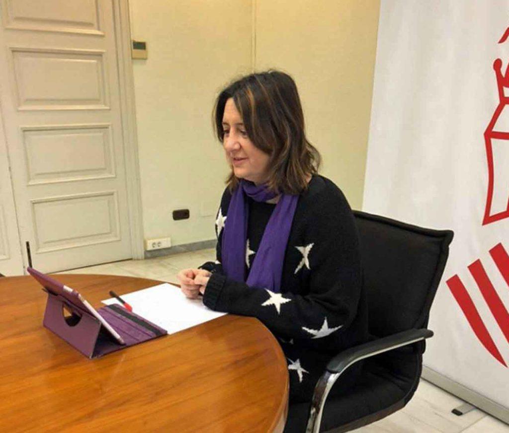 Rosa Pérez Garijo durante la videoconferencia.