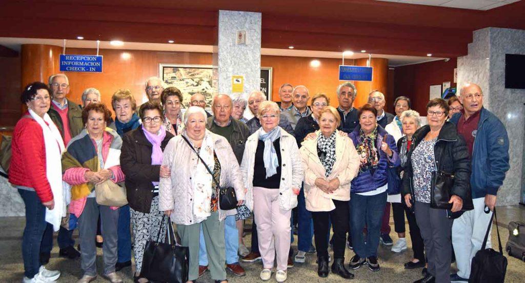 El grupo en el hotel de Benalmádena antes de salir hacia Málaga.