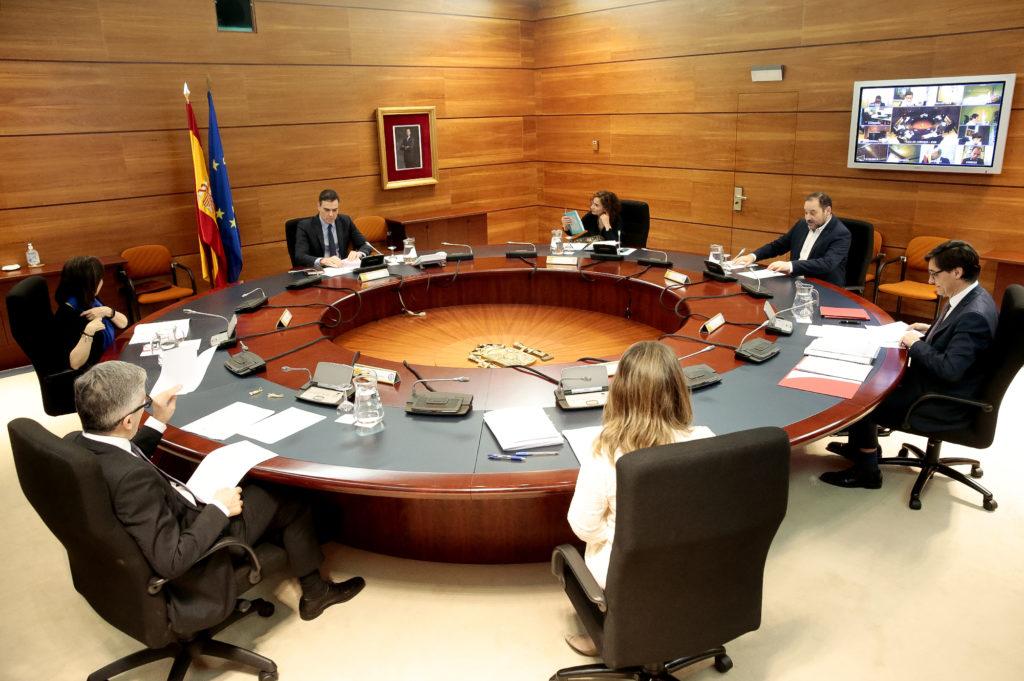 Consejo de ministros del domingo 29 de marzo.