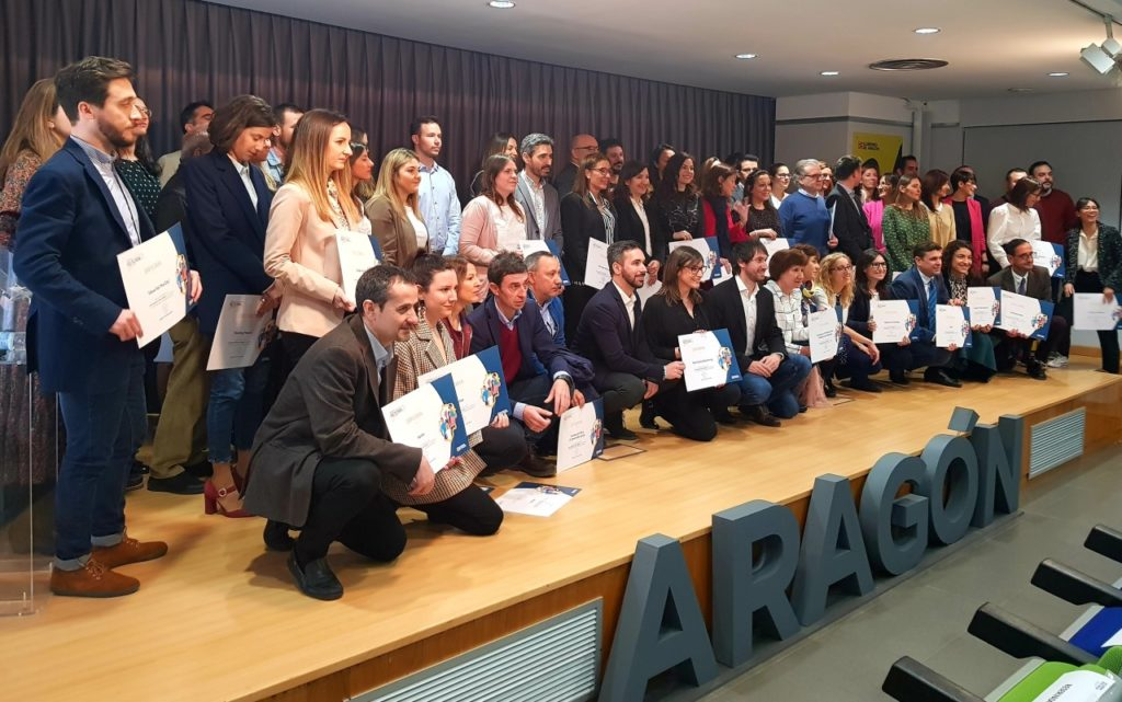 Representantes de las empresas colaboradoras con el Plan que recibieron sus diplomas acreditativos.