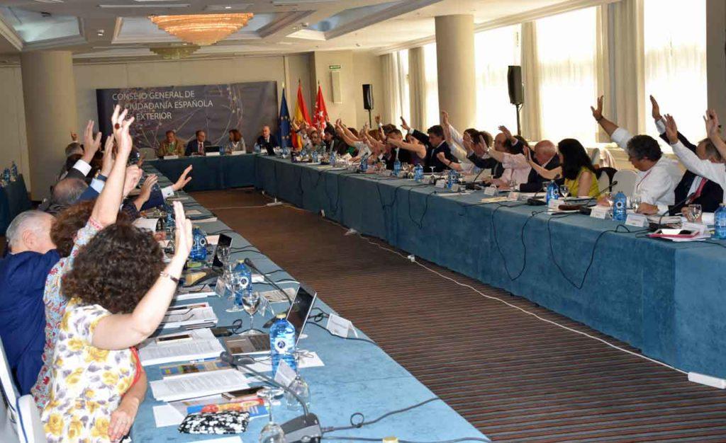 Imagen del último pleno del CGCEE celebrado en junio de 2018 en Madrid.