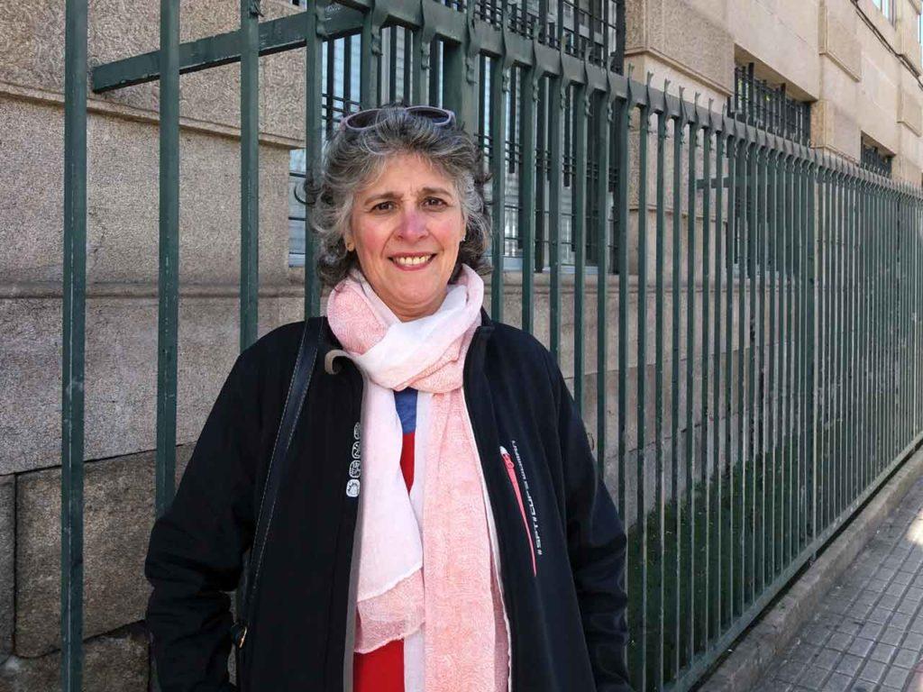 Miriam Sandoval en la Gran Vía de Vigo.