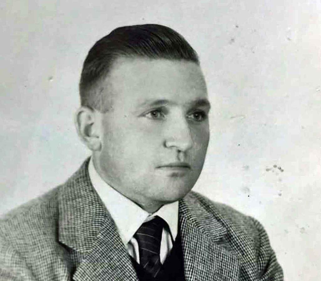 Antonio, en una foto de joven en sus primeros años en Argentina.