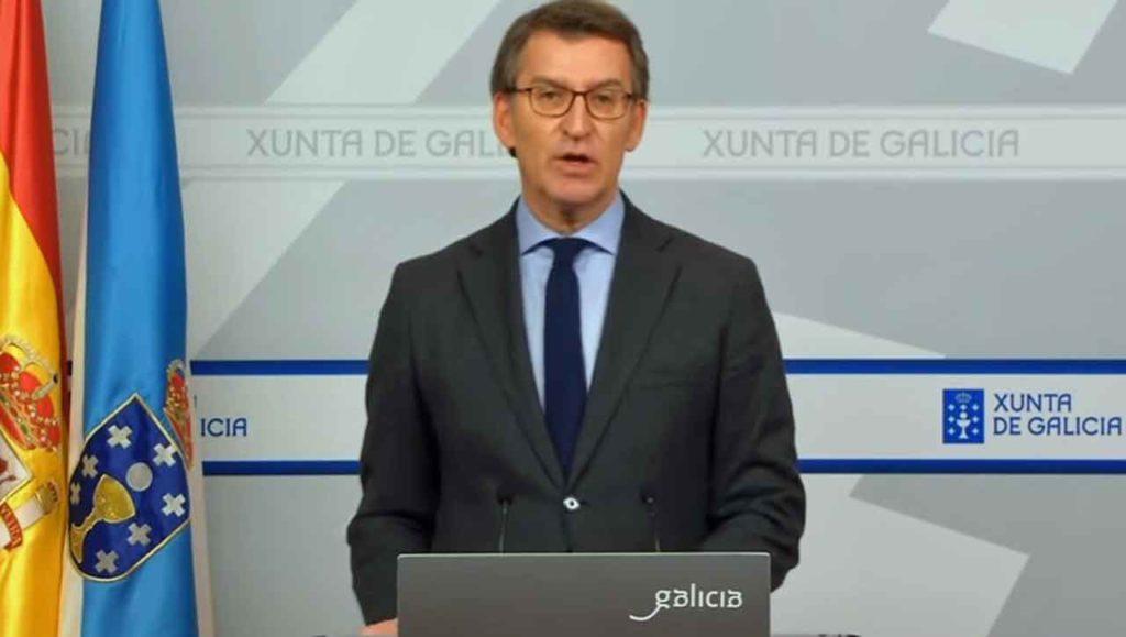 Comparecencia de Alberto Núñez Feijóo del pasado domingo 5 de abril.