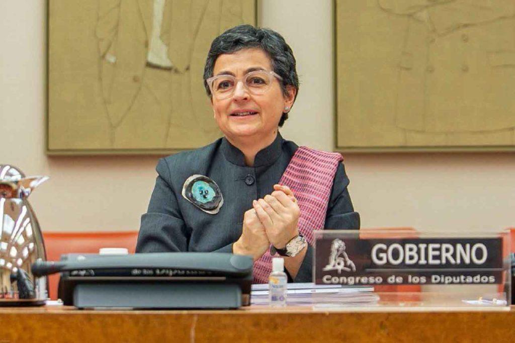 Arancha González Laya el pasado 23 de abril compareció ante la Comisión de Asuntos Exteriores del Congreso.