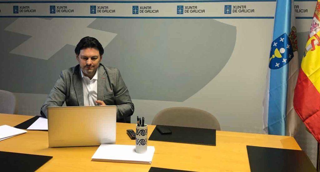 Rodríguez Miranda durante la videoconferencia.