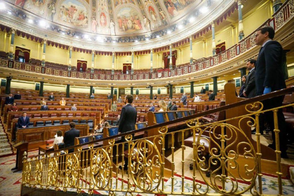 El pleno del Congreso guardó un minuto de silencio por las víctimas del coronavirus.