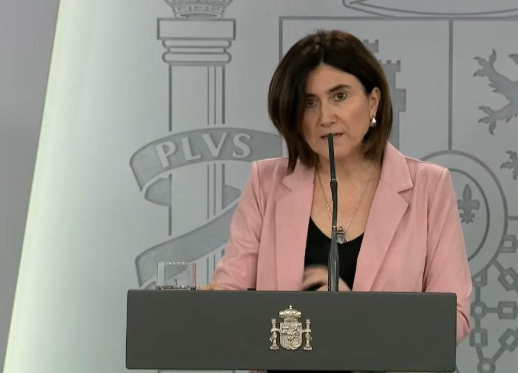 María José Sierra, durante la rueda de prensa telemática sobre el coronavirus.