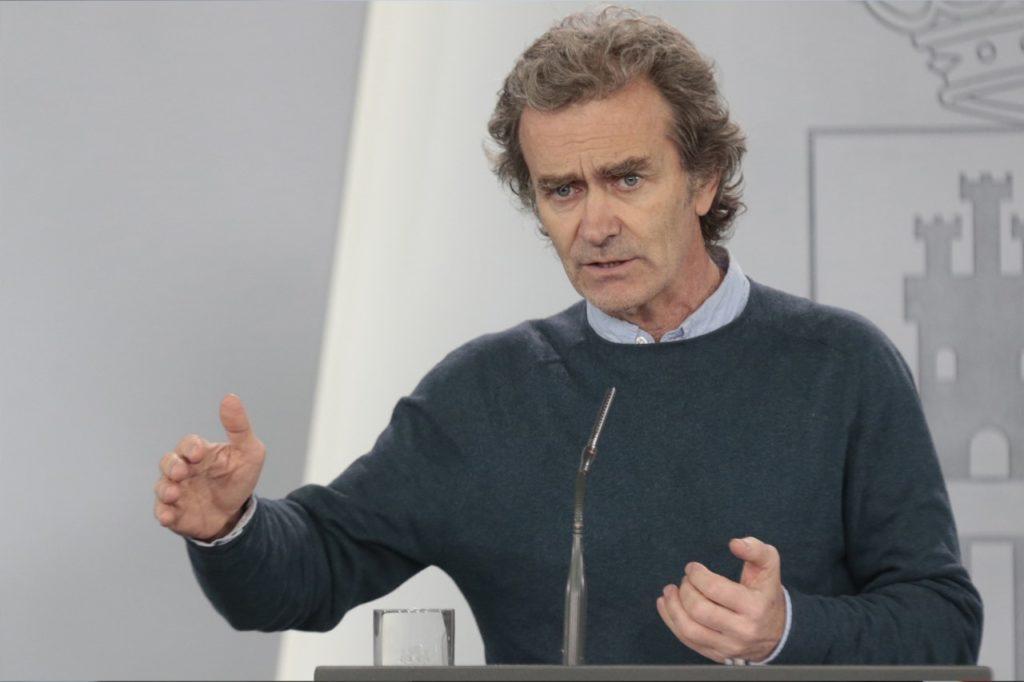 Fernando Simón durante la rueda de prensa telemática sobre el coronavirus.