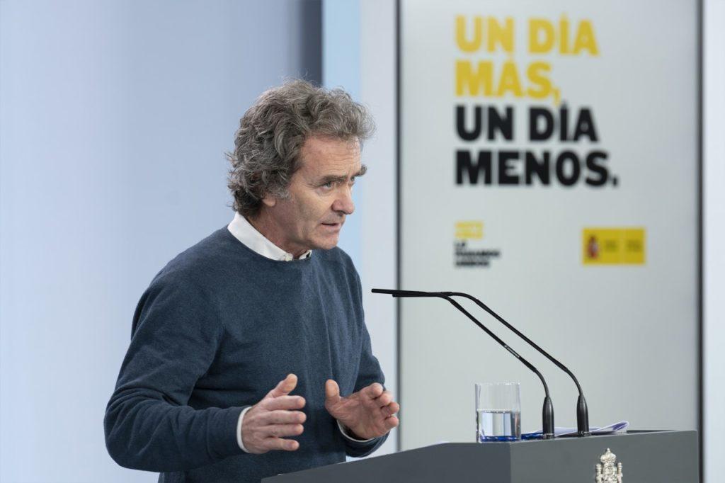 Fernando Simón durante la rueda de prensa diaria por videoconferencia sobre el coronanrivus.