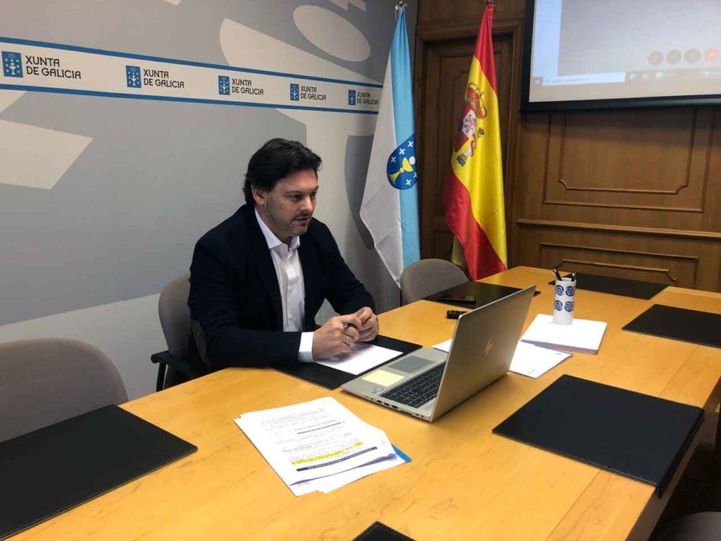 Antonio Rodríguez Miranda en una de las videoconferencias.