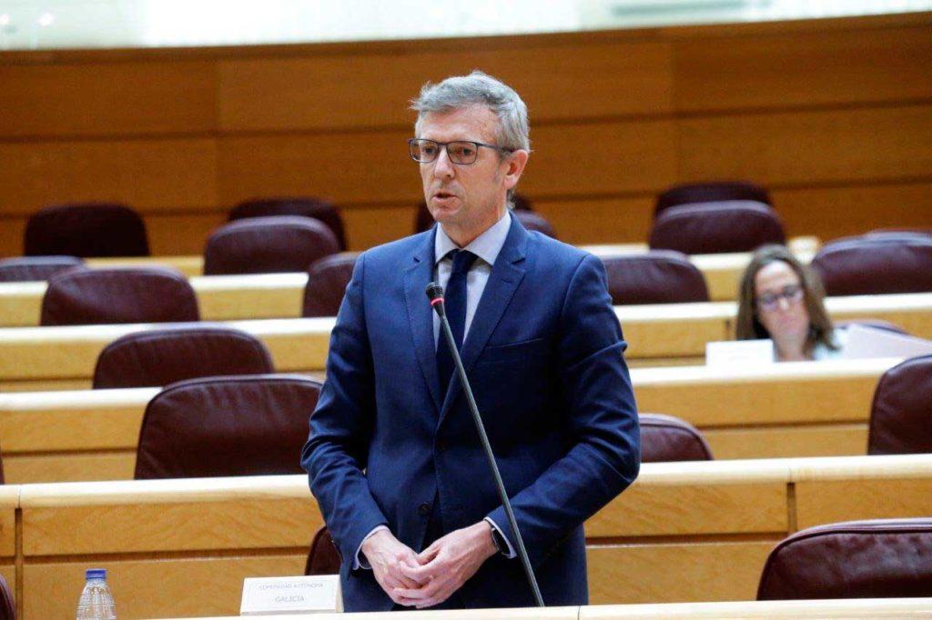 El vicepresidente de la Xunta, Alfonso Rueda, compareció en el Senado en la reunión de la Comisión General de las Comunidades Autónomas.