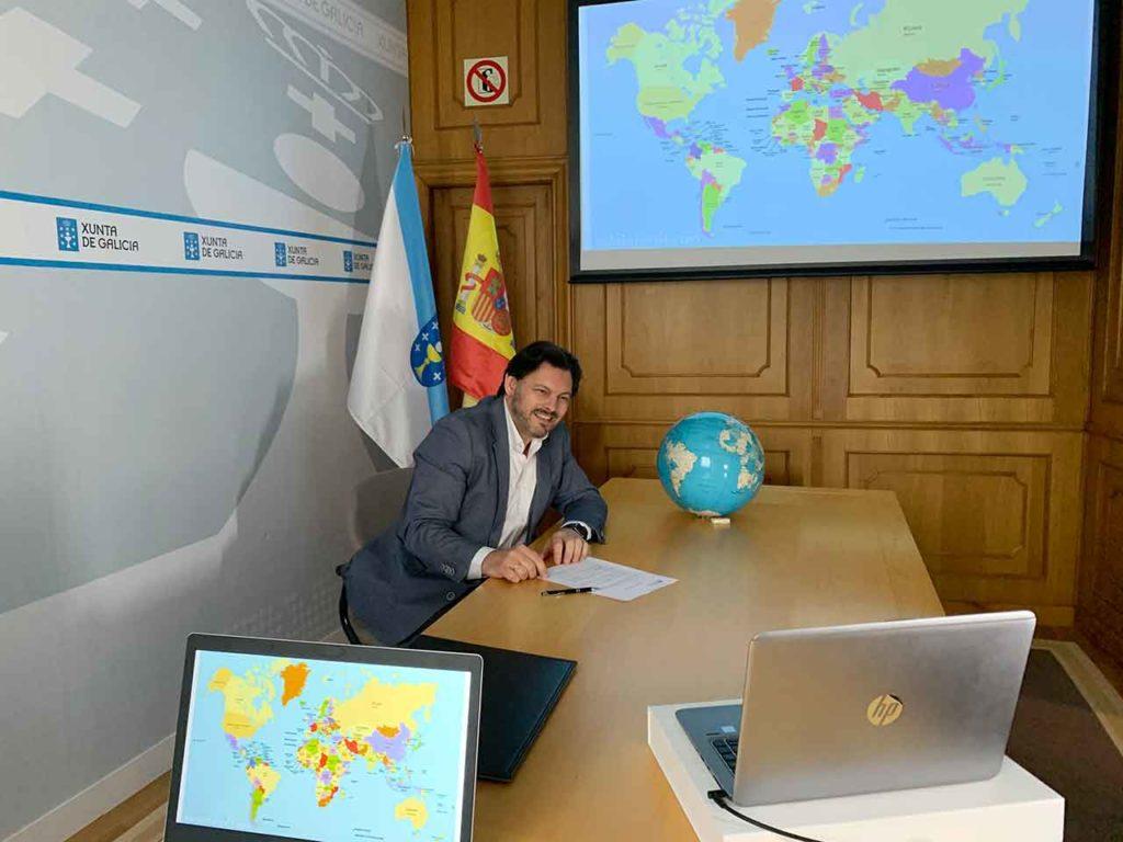 Rodríguez Miranda en la videoconferencia de presentación del
