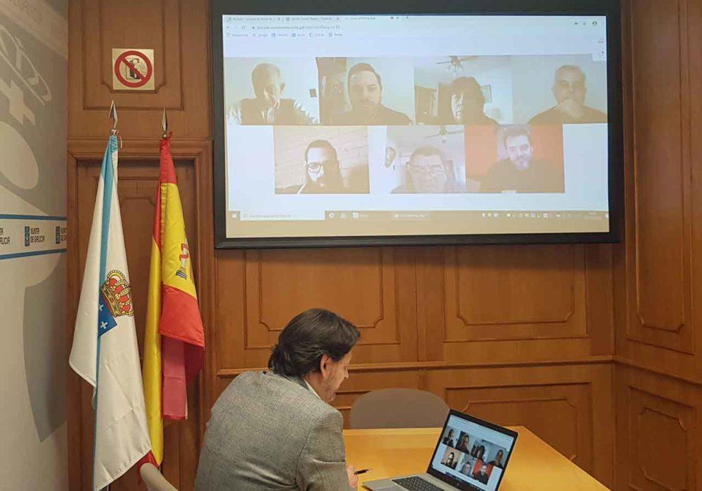 Rodríguez Miranda en un momento de la videoconferencia.