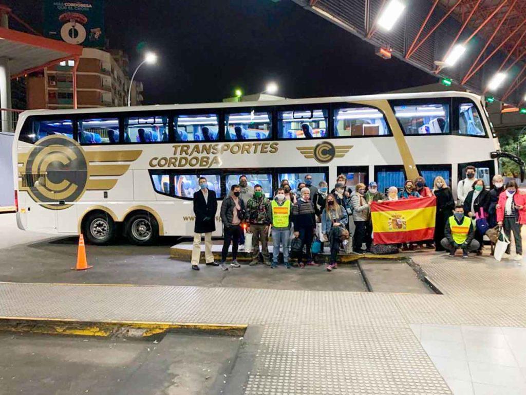 Último bus que salió desde Córdoba hacia Buenos Aires en la medianoche del 27 de mayo.