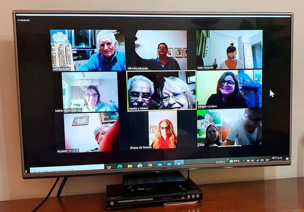 Directivos y socios celebraron el aniversario por Zoom.