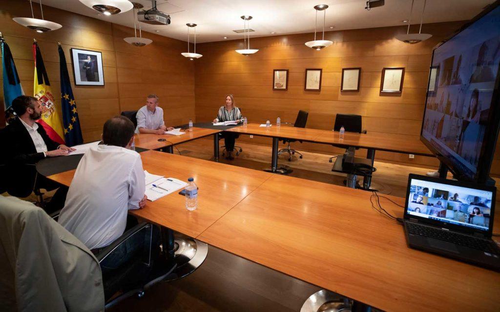 El vicepresidente de la Xunta, Alfonso Rueda, presidió la décima reunión del Centro de Coordinación Operativa (Cecop).