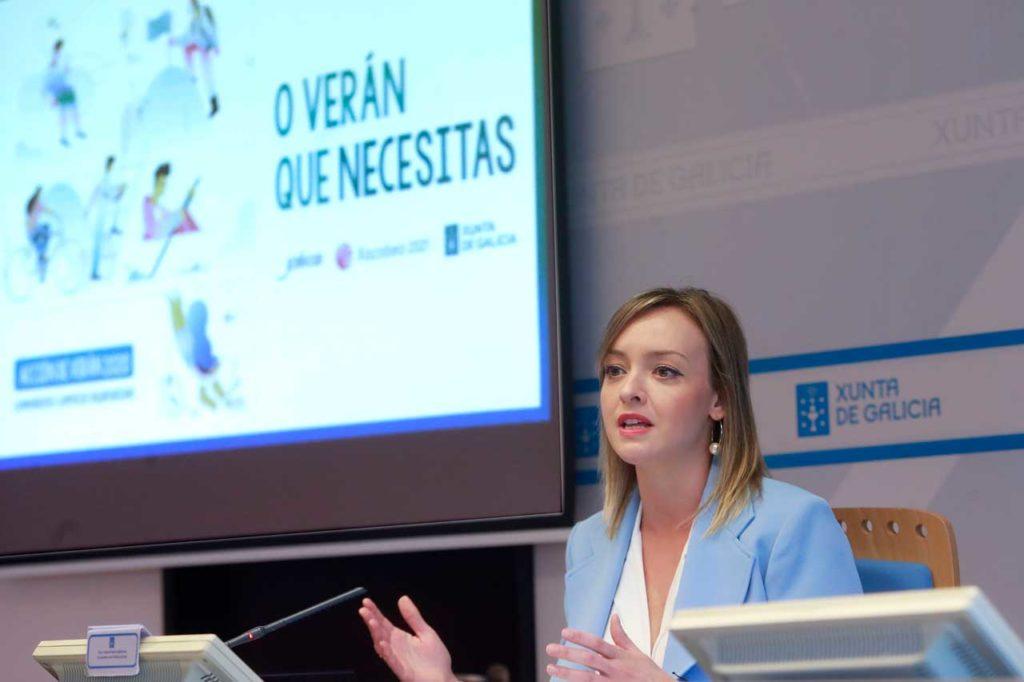 La conselleira de Política Social, Fabiola García, durante la presentación de la campaña de verano para este 2020.