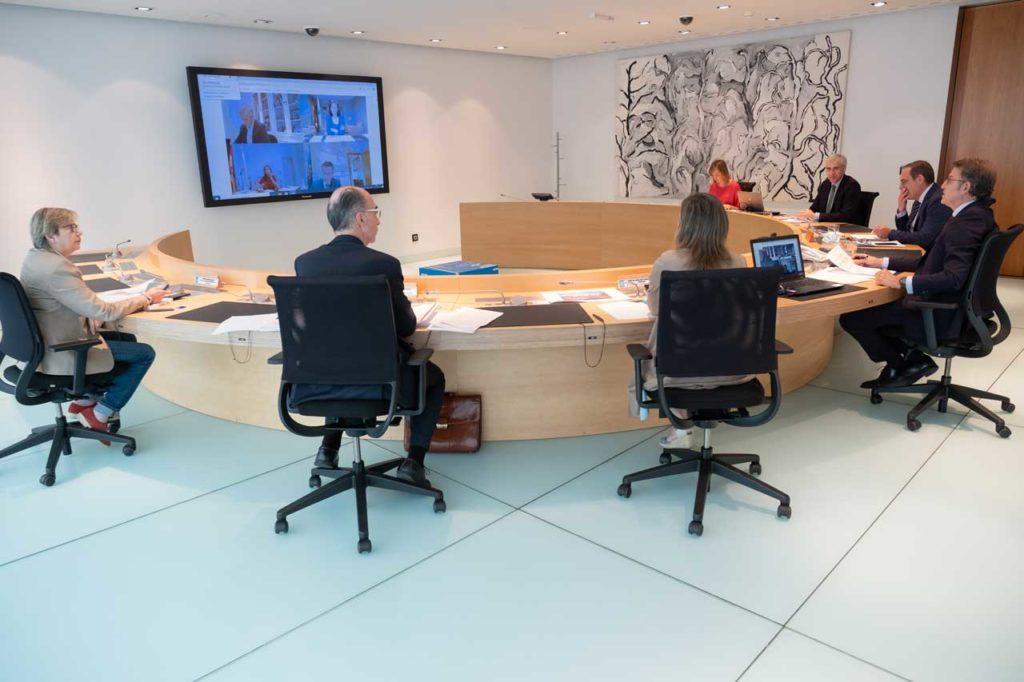 Reunión del Gobierno gallego en Consello que aprobó estas actuaciones.