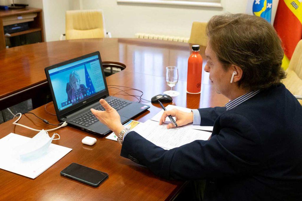 El director xeral de Relacións Exteriores e coa UE, Jesus Gamallo participó por videconferencia en la asamblea general de la Comisión Arco Atlántico.