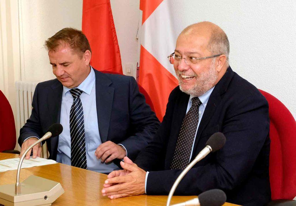 Carlos Aguilar y Francisco Igea.