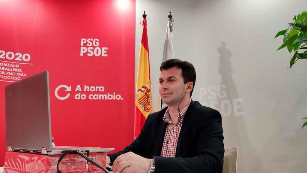 Gonzalo Caballero durante la videoconferencia.
