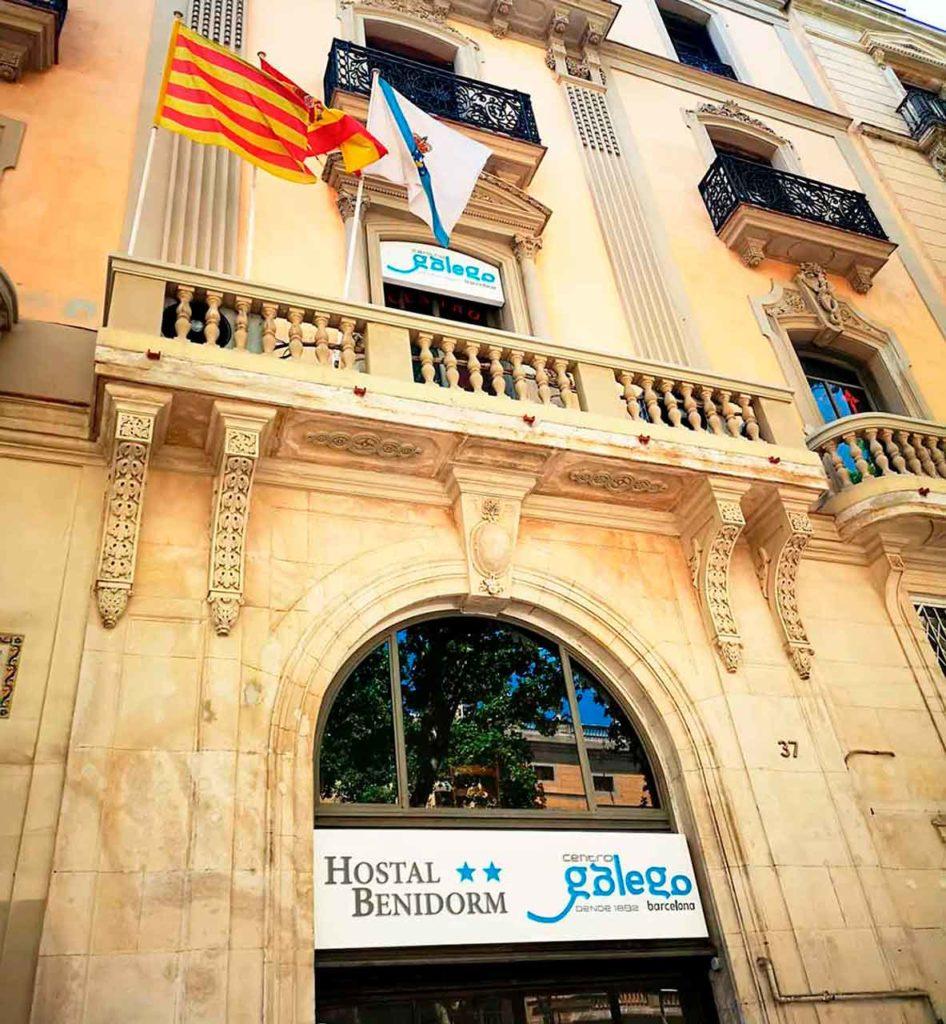 Nueva rotulación en la sede del Centro Galego de Barcelona.