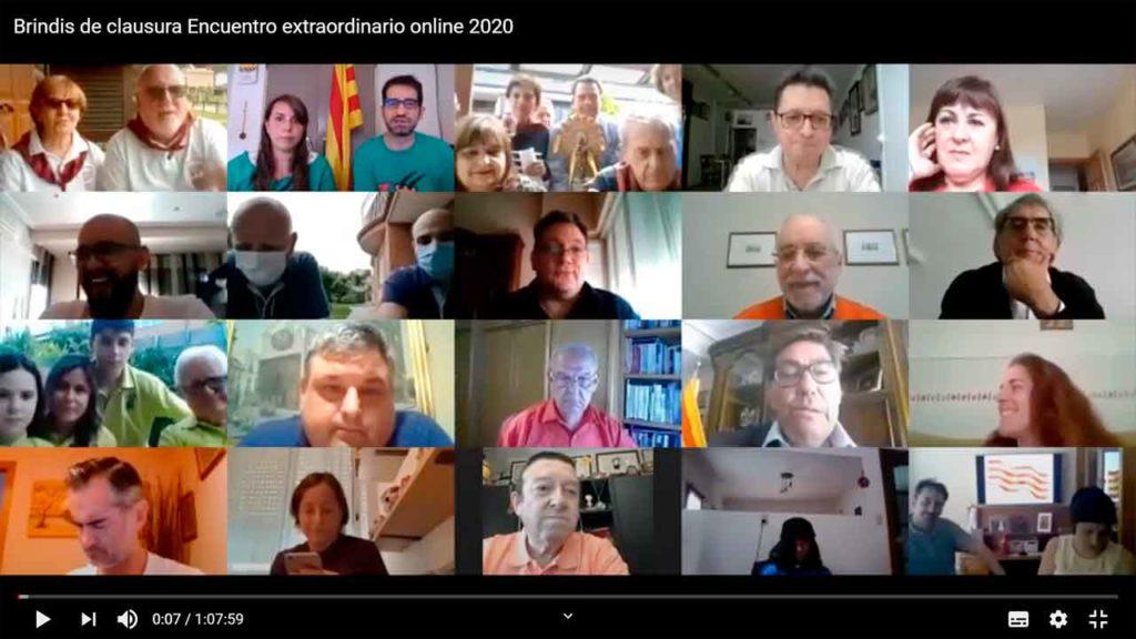 Reunión de cierre del encuentro on line de casas de Aragón.