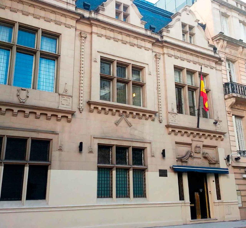 Fachada del Consulado de España en Buenos Aires.