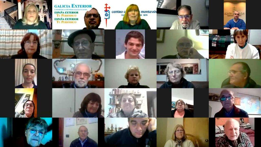 Algunos de los participantes en la reunión telemática.