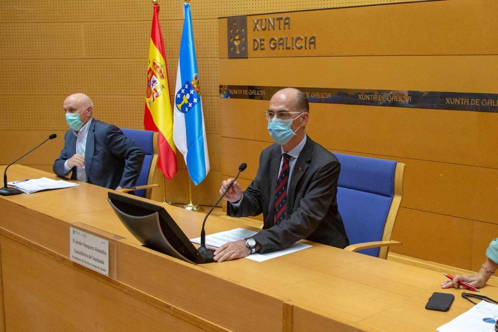 Antonio Fernández-Campa y Jesús Vázquez Almuiña explicaron las medidas para A Coruña.