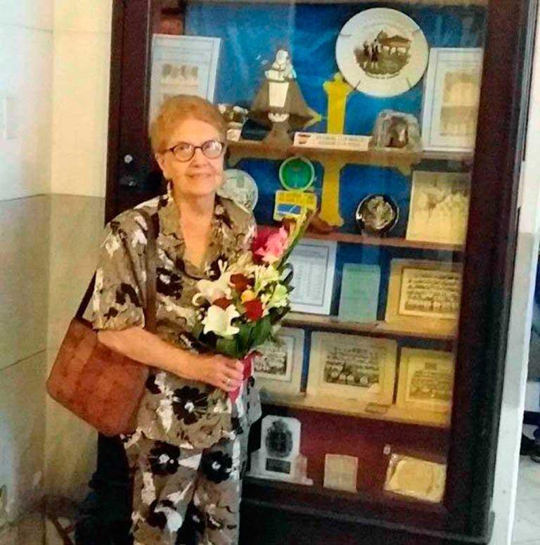 Benedicta Ferrería el día de la celebración del centenario de la sociedad Naturales de Vegadeo y sus Contornos en la capital cubana.