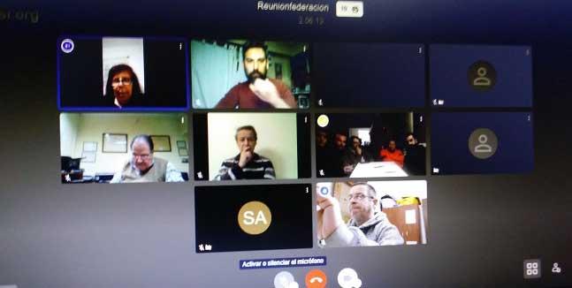 Imagen del cuarto encuentro en línea organizado por la Federación.