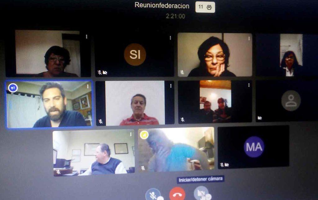 Un momento de la reunión virtual.