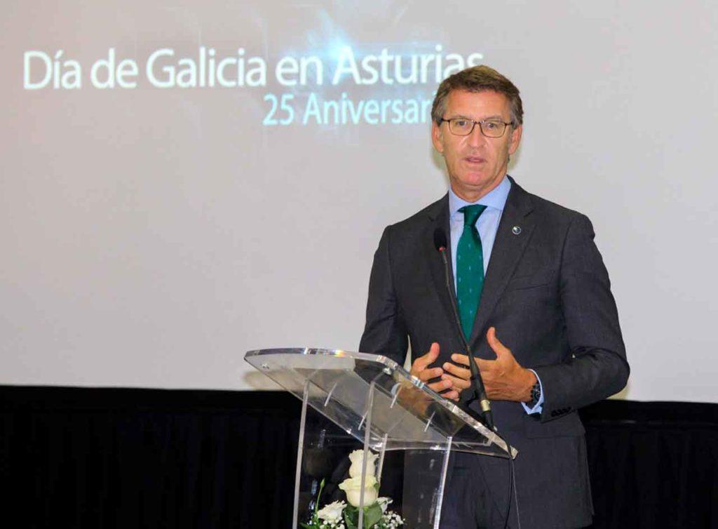 Intervención de Núñez Feijóo en el acto del Día de Galicia en Asturias.