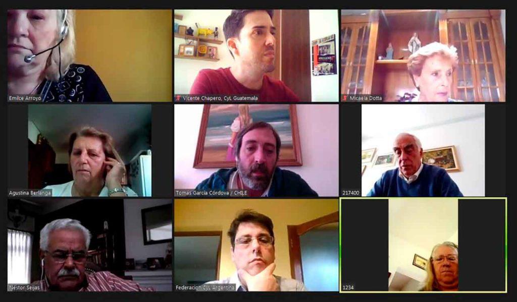 Participantes en el encuentro de entidades de Castilla y León en América Latina.