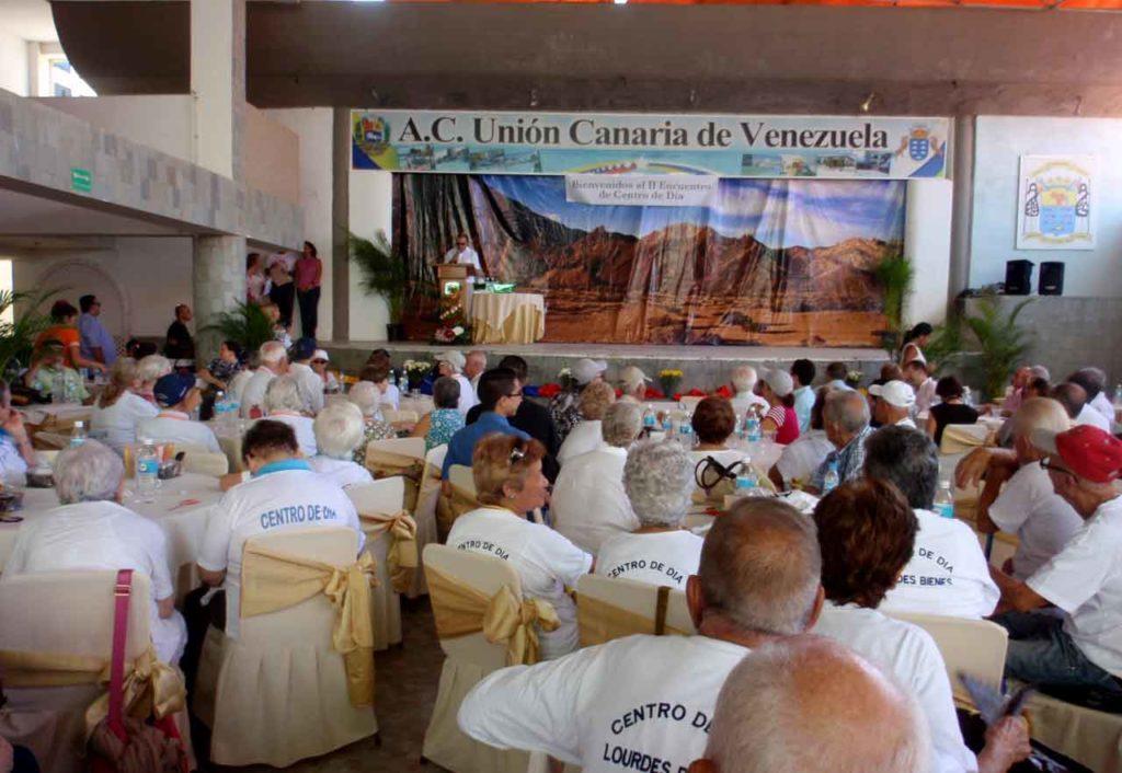 Encuentro de usuarios de centros de día en Venezuela.